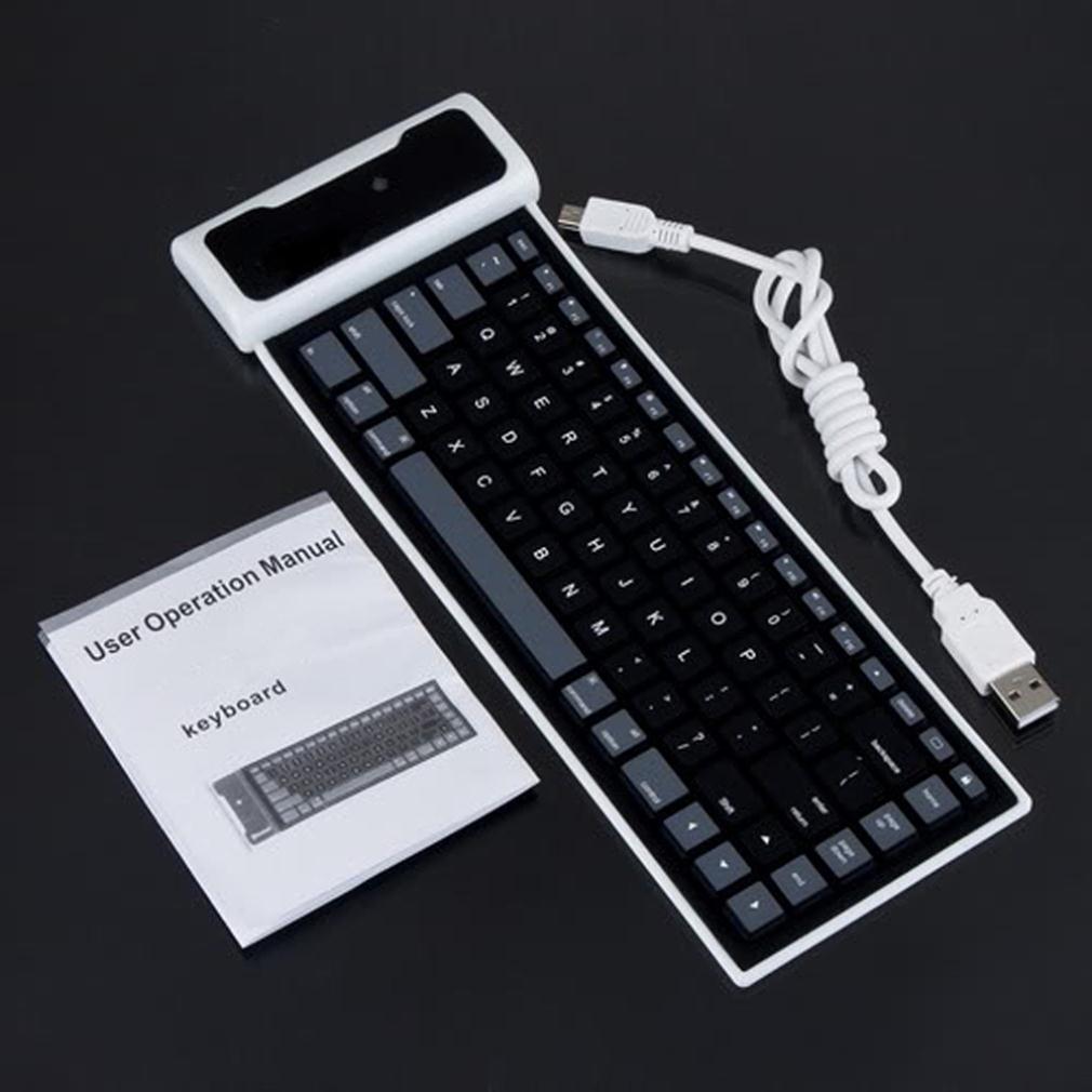 New Flexible Silicone Wireless Bluetooth Mini Keyboard for PC Laptop iPad(China (Mainland))