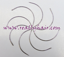 Free shipping sharp C type Needle of Weaving / Human Hair Weft Extension Weaving Tools 144pcs/pack