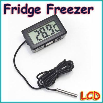 Free Drop Shipping 10pcs/lot New Digital LCD Thermometer for Aquarium Freezer H155<br><br>Aliexpress
