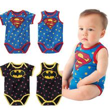 new born 100 cotton baby romper superman batman baby boy clothes sleeveless newborn similar baby clothes