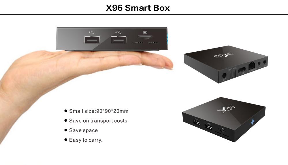 ถูก ล่าสุดX96หุ่นยนต์ทีวีกล่อง2กิกะไบต์16กิกะไบต์Amlogic S905X Quad Core Android 6.0 WiFi HDMI 4พันKODI 16.1เซ็ตกล่องด้านบนPk A95xสมาร์ททีวีกล่อง