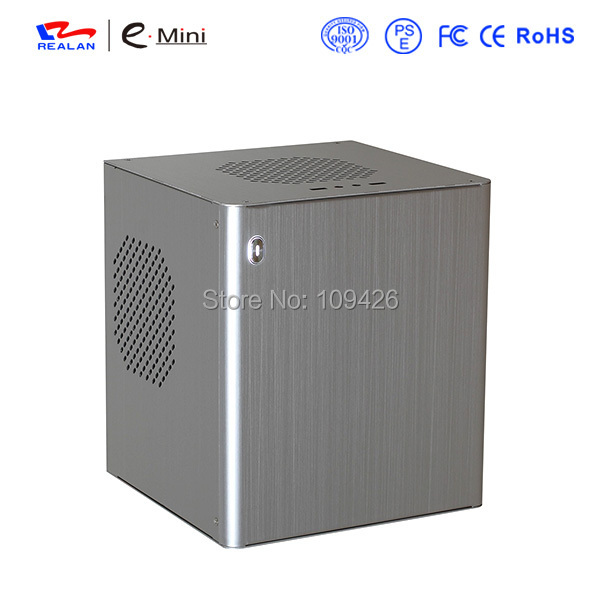 Realan D3 Silver Personalized Computer Cases, Aluminum Computer Case For Mini ITX Motherboard, 2 x PCI Slots(China (Mainland))