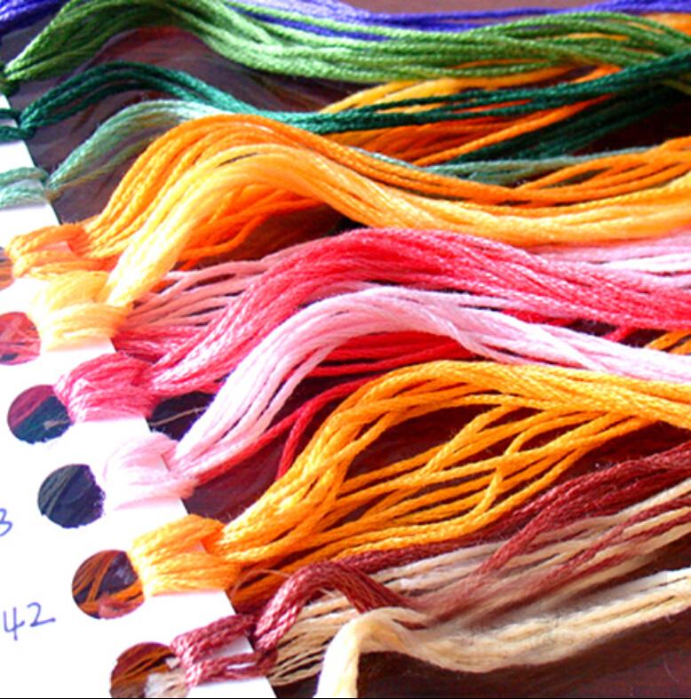 DMC cross stitch embroidery thread wiring embroidery thread embroidery thread repair the line handmade cotton embroidery thread(China (Mainland))