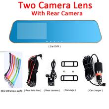 Car Camera Novatek 96650 Car Dvr Blue Review Mirror Digital Video Recorder Auto Navigator Registrator Camcorder Full HD 1080P(China (Mainland))