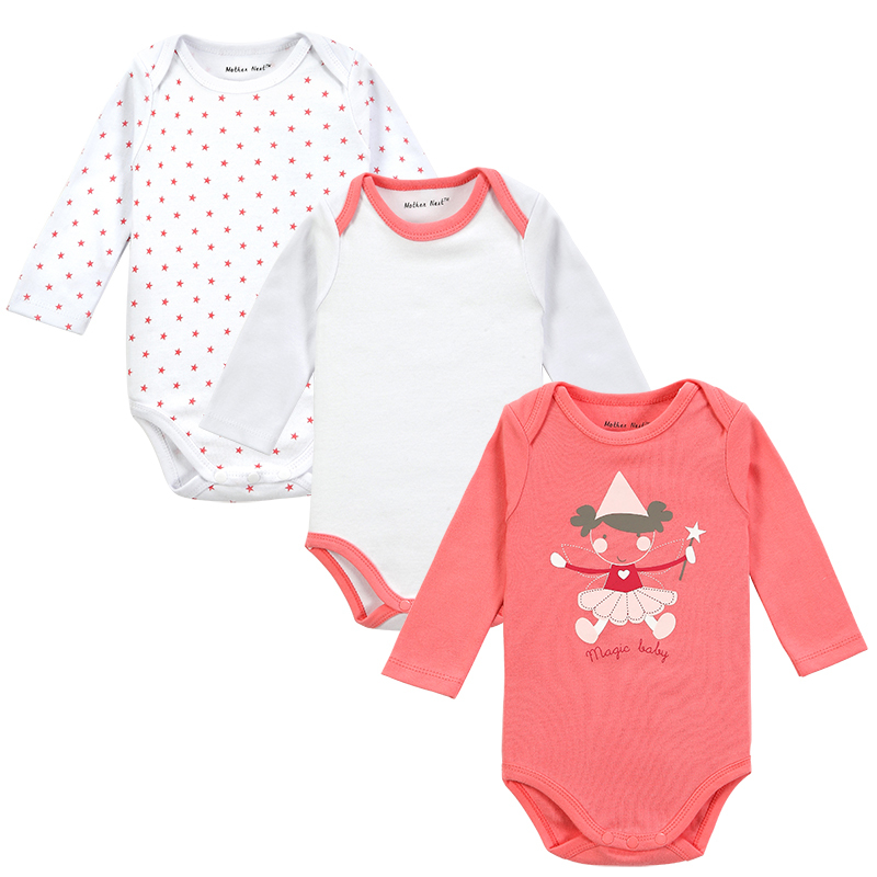 3 Pieces/lot Newborn Baby Clothing Carters Baby Girl Boy Next Vestidos Infantis Body Long Sleeve Super Soft Baby Bodysuit(China (Mainland))