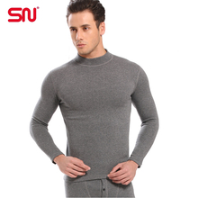 Hot sale SN brand cotton thermal underwear men long johns cashmere men thermal underwear clothing plus size XL XXL XXXL YCYP69(China (Mainland))