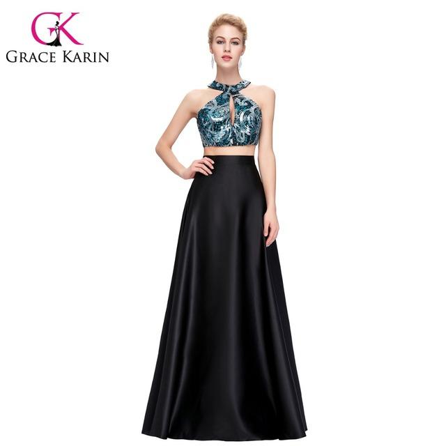 Грейс карин холтер-линии атласные вечерние платья черный глубоко голубой элегантный ...