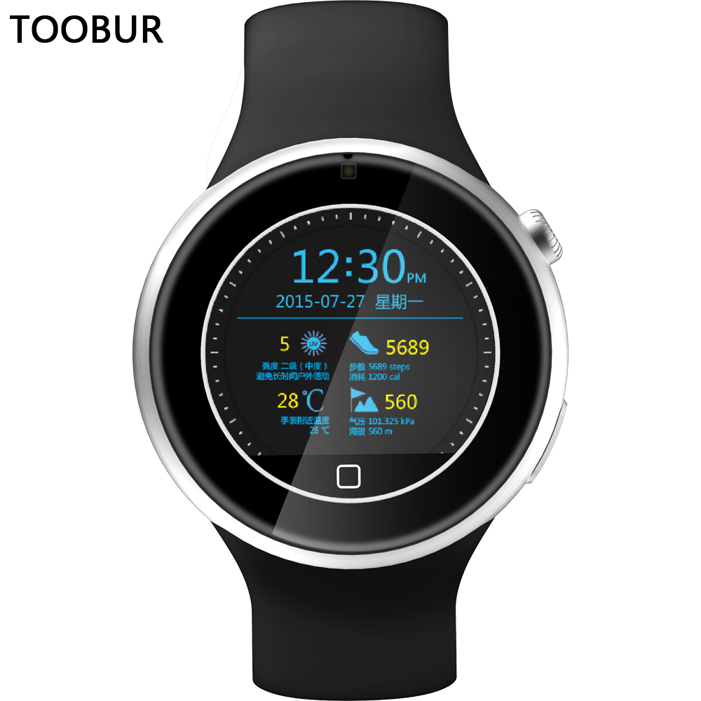Toobur Smart Watch TB05,Bluetooth Phone/Two-way Anti-Lost/Heart Rate/Weather/Push Message/Waterproof Full Android&IOS Smartwatch(China (Mainland))