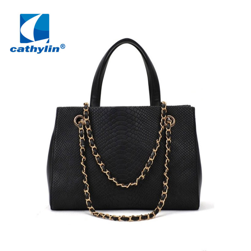 Bag Free! Shoulder Bag Women 2014 Hangbag Leather Pu Bags For WomenNew Arrival 2013Black/Khaki Croco Bag For Lady Party(China (Mainland))