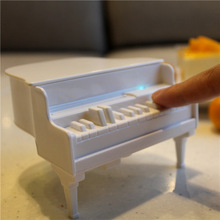 Novelty White Piano Automatic Toothpicks Dispenser UV Disinfecting Toothpick Holder Box Table Decor Accessories (China (Mainland))