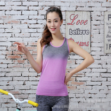 Buy AP New Womens Gym Tops Gradient Color Yoga Shirts Running Vest Elastic Breathable Fitness Shirt Ladies Tank Top Woman for $10.99 in AliExpress store