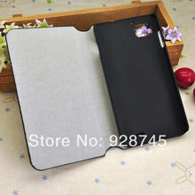 Free Shipping Lenovo K860 PU Case Protective Folding Matte PC + PU Leather Flip Cover Wholesale Price Best Phone Gifts(China (Mainland))