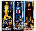 8set New 12 30CM Super Hero Spiderman Superman Captain X men PVC Action Figures Collectible Toy