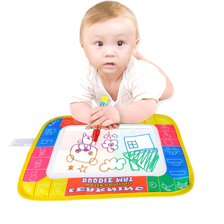 2015 Baby Play Polyester Paint Toys learning Aquadoodle Aqua Doodle Drawing Mat &1 Magic Pen aquadoodle mat 29*19cm 1938(China (Mainland))