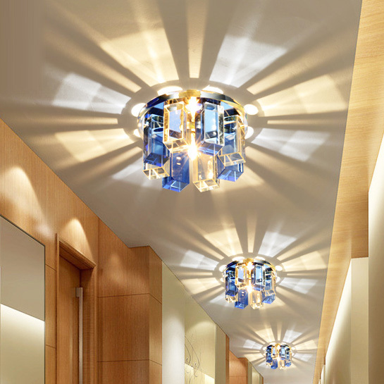 Ceiling Lamps For Hallways : Modern crystal porch ceiling lamp bedroom hallway living