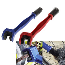 2 Color Plastic Cycling Motorcycle Bicycle Chain Clean Brush Gear Grunge Brush Cleaner Outdoor Cleaner Scrubber Tool US#V(China (Mainland))
