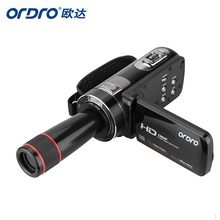 ORDRO HDV-Z8 1080P Full HD Digital Video Camera 24 MP LCD Touch Screen Camcorder with 12x Telephoto Lens Support Face Detection(China (Mainland))
