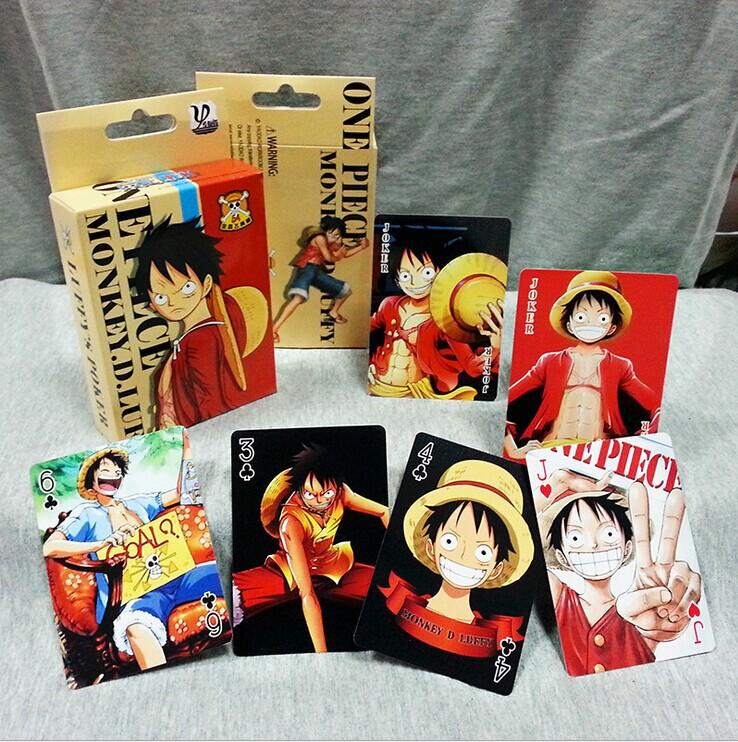 Japanese anime cartoon paper fashion One Piece, Luffy Naruto , onslaught of giant, lol,Detective Conan, tutor, poker,poker cards(China (Mainland))