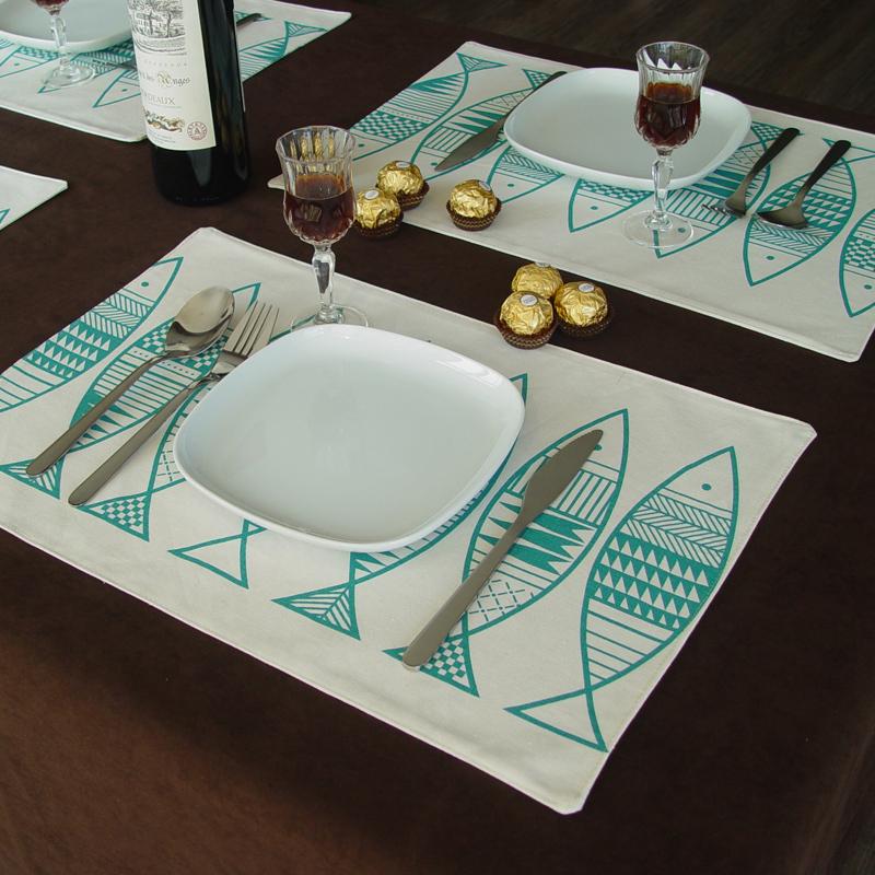 Guardanapo De Pano Dining Table Mat Acessorios De Cozinha Fish Design Placemats For Table High Quality Coaster Table Mats IKEA(China (Mainland))