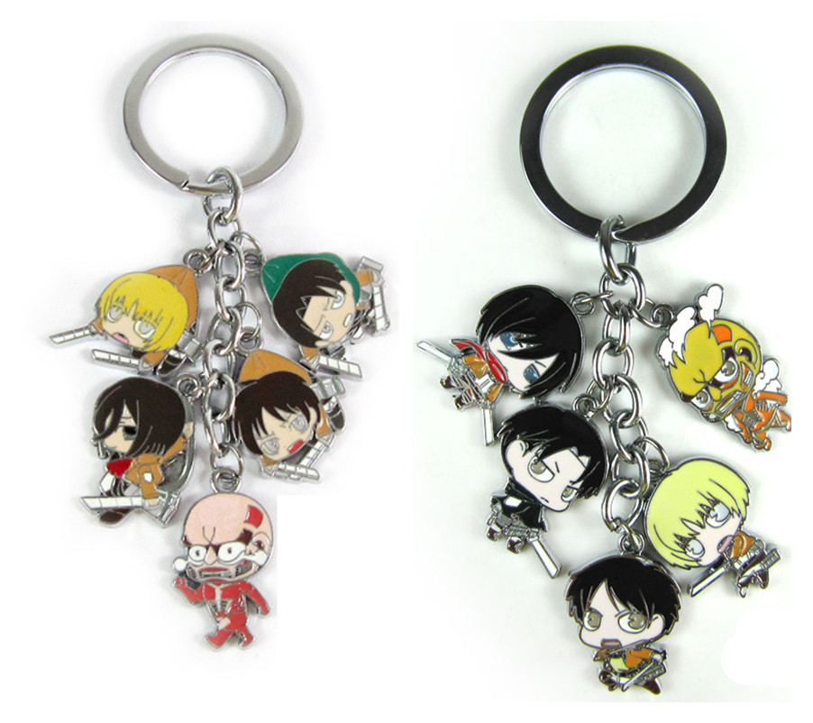 Attack on Titan  Keychains Metal Figures Pendants Charms Key Ring 10pcs/lot wholesale