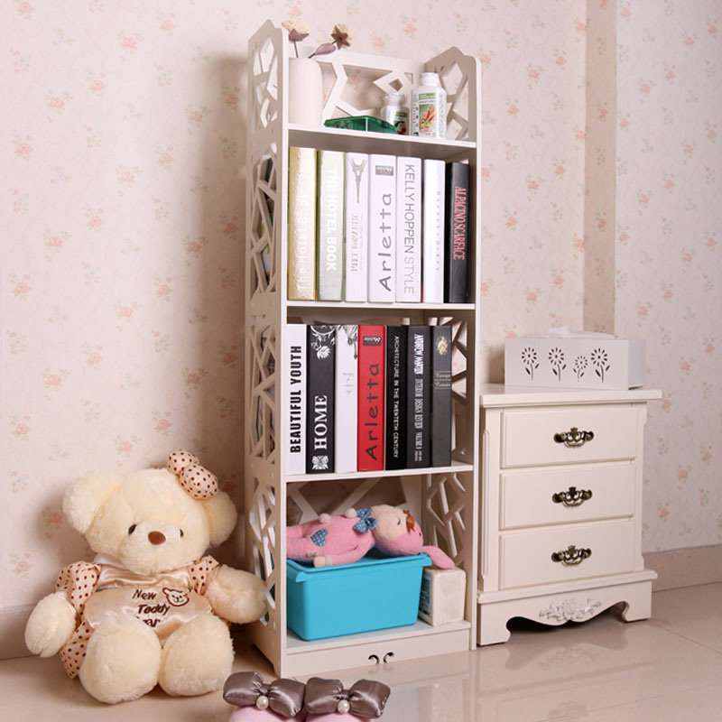 4 Tiers Waterproof Wood Book Shelf Shoes Rack Shelves Holder Storage Home Organizer 120*40*23cm(China (Mainland))