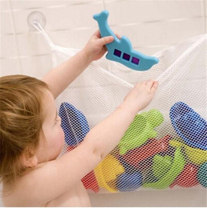 Kids Baby Bath Net Bag Toys Storage Suction Bag Folding Hanging Mesh Net Bathroom Shower Toy Organiser Bag HO675803(China (Mainland))