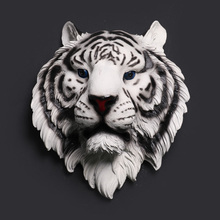 Tiger Head Wall decoration Hanging Wall Animal Head Resin Pendant Resin Wall Ornaments Home Accessories, Best Gift(China (Mainland))