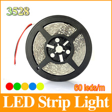 5m 3528 led strip light smd RGB/Red/Green/Blue/White/Warm White 60led/m 300 Leds strips light LS23(China (Mainland))