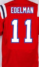 Best quality men's jersey,Elite 12 Tom Brady 87 Rob Gronkowski 11 Julian Edelman jersey,White Red and Blue,size M-XXXL(China (Mainland))
