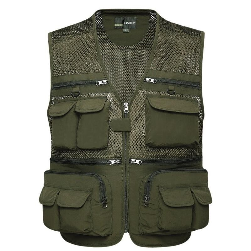 New Fishing Vest Fishing Pack Outdoor Multifunctional Men's Photography Camping Clothes Fly Fishing Vest Coats
