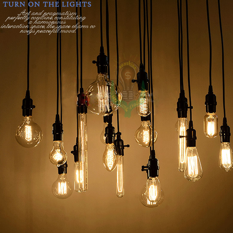 wholesale 18set edison antique bulb pendant lamps diy nostalgic vintage style pendant lights high quality long-life freeshipping(China (Mainland))