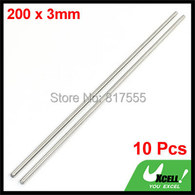 Diameter 3mm x 200mm Long Stainless Steel Round Rod Stock for RC Airplane Model Discount 50 10 Pcs/lot(China (Mainland))