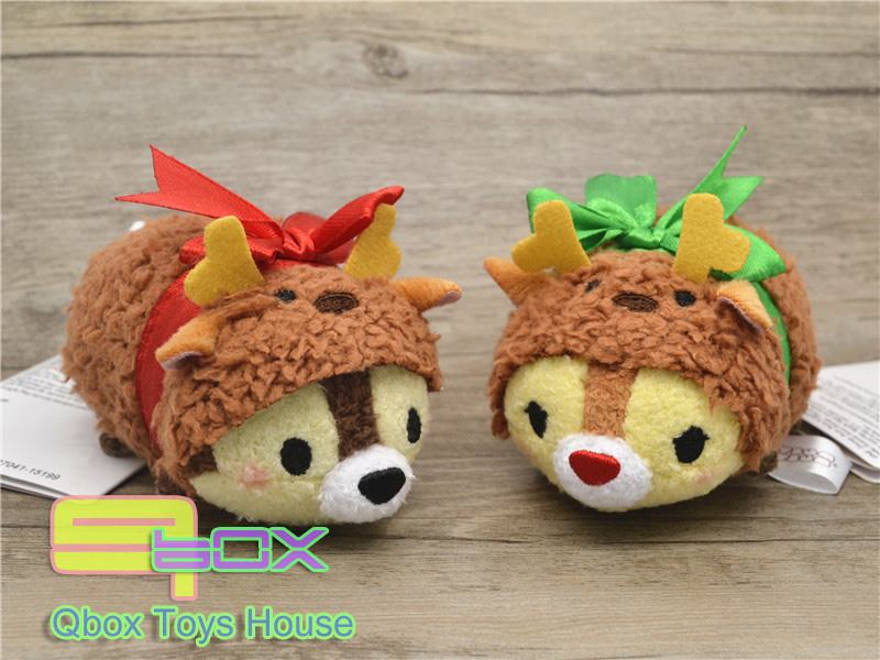 Japan Christmas Set TSUM Clubhouse Chipmunks CHIP & DALE Small Tsum Plush Collection Cute Toy Mini Dolls - Qbox Toys House store