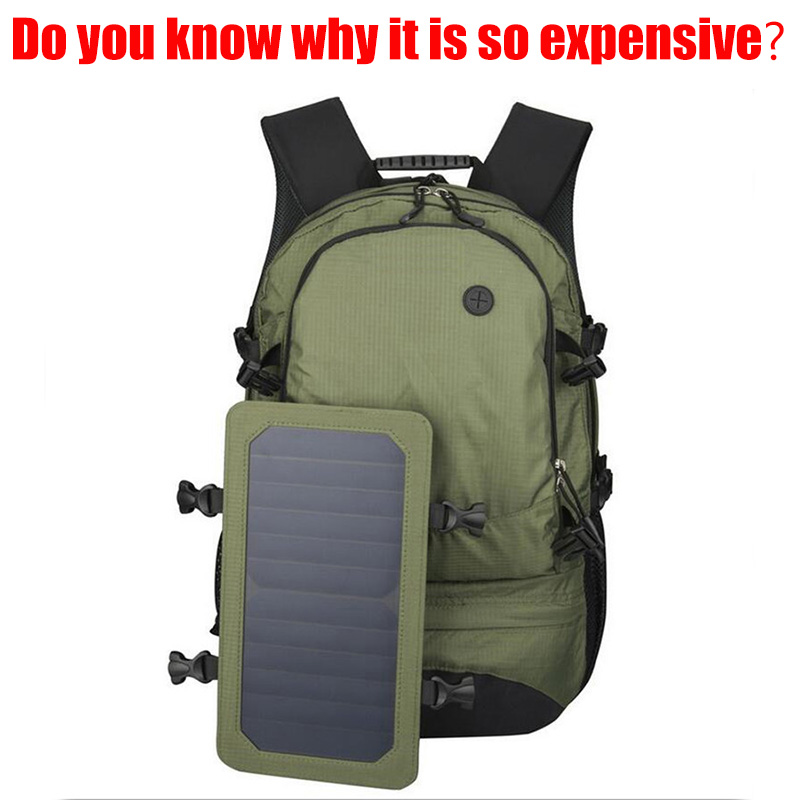 EP Solar Charging Fashion Men Soft Casual Laptop Backpack Europe Waterproof Weekender Multifunction 35L Travel Bag Computer Bag(China (Mainland))