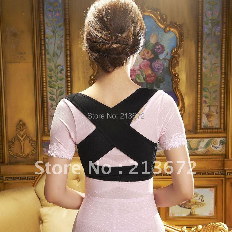 New BABAKA Back Straighten Posture Corrective Brace Adjustable Beauty Body Shaper Brace Rectify Back Supporter Retail&Wholesale(China (Mainland))