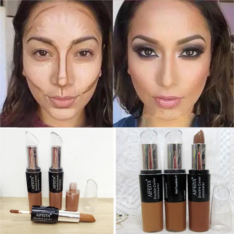 Maquiagem Bronzer 3D Makeup Highlight Contour Cream Stick Natural Color Long Lasting Contouring Foundation Face Concealer Pen(China (Mainland))