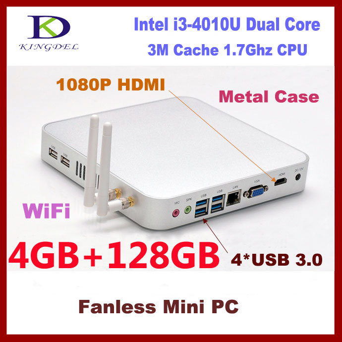 New 4GB RAM/128GB SSD thin client pc net computer with Intel Core i3-4010U 1.7Ghz HDMI VGA 4*USB 3.0 Wifi 11 3D game supports(China (Mainland))