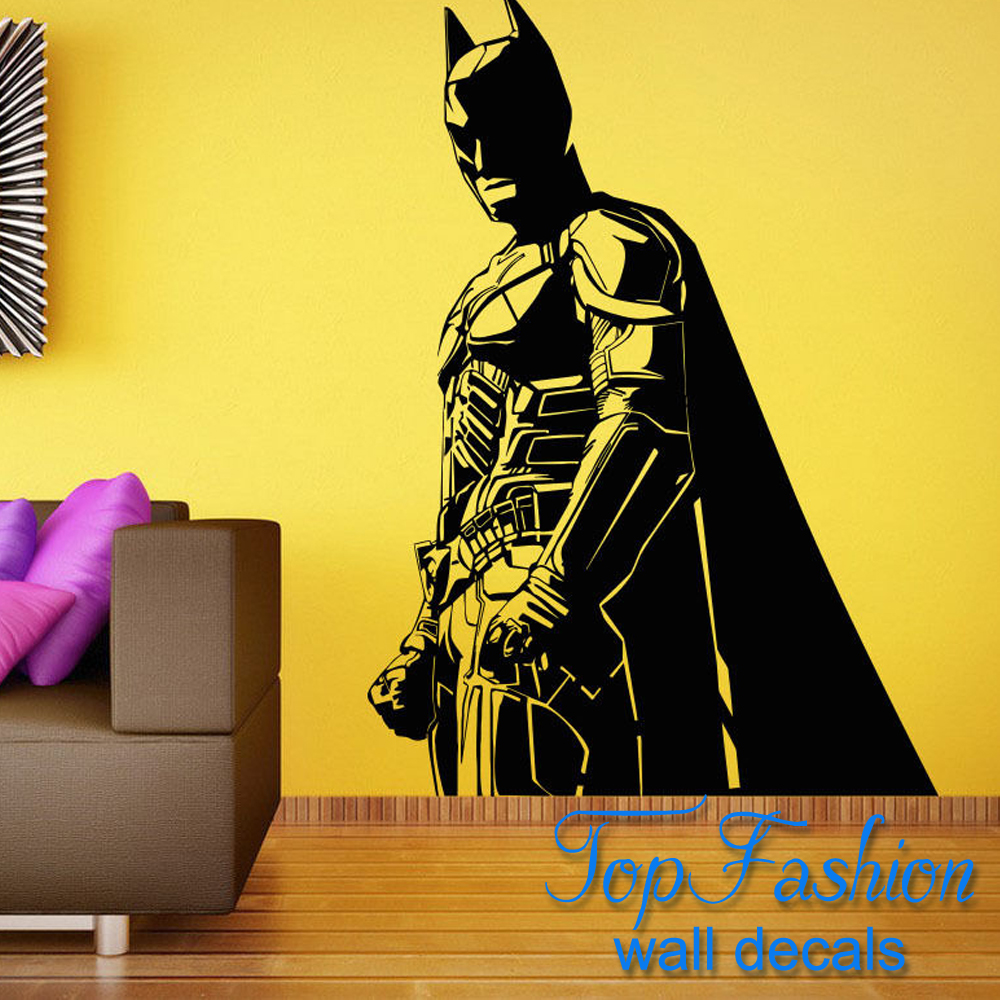 batman wall decal batman cityscape giant wall decals. Black Bedroom Furniture Sets. Home Design Ideas