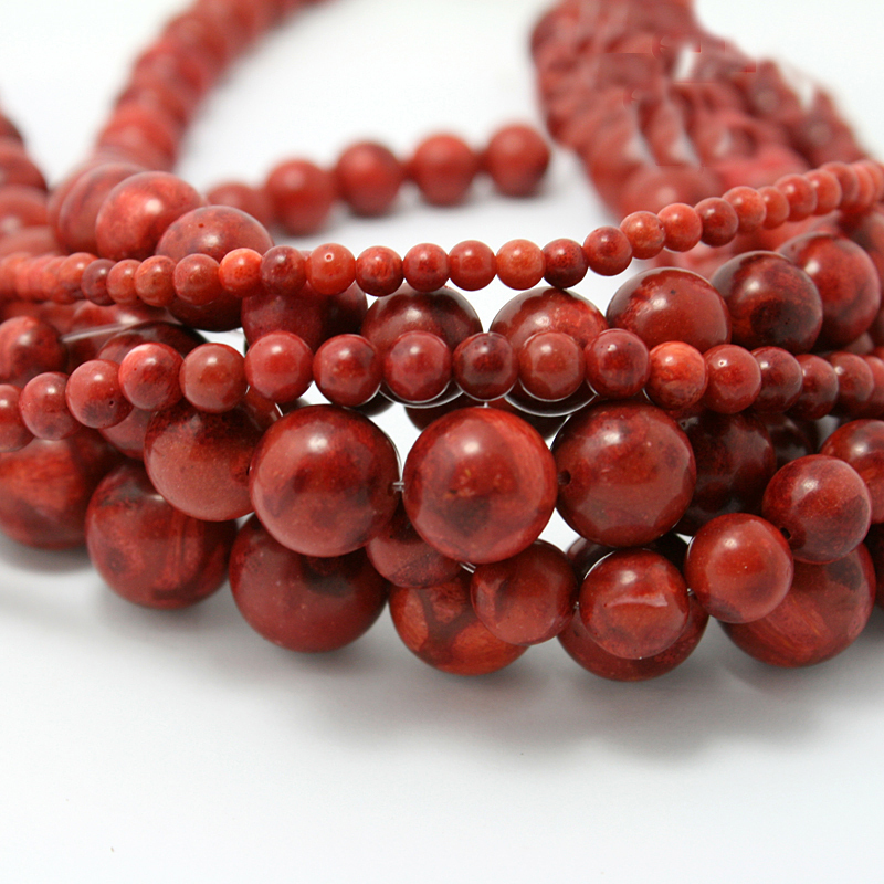 Round Red Coral Beads Synthestic Stone Fashion Jewelry Beads For Jewelry Making Diy Bracelet Necklace Free Shipping(China (Mainland))