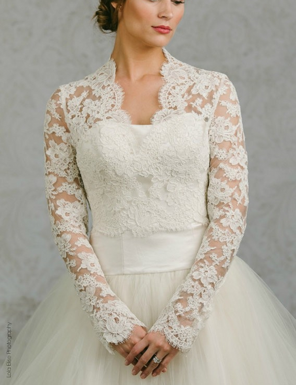 Full sleeves wedding bolero jackets mesh lace bridal for Dress jackets for wedding
