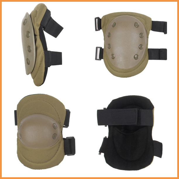 Free shipping Olive Outdoor Protective Knee & Elbow Pads Swat Multi-Purpose Paintball Inline Hiking(China (Mainland))