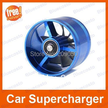 Universal 64MM to 73MM Air Intake Car Turbine Supercharger,Turbo Charger Fan,Fuel Gas Saver