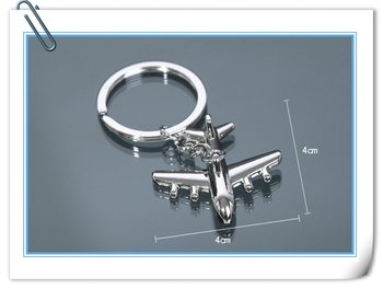 10 pcs/lot American Airlines Airplane Silver  color metal  Keychain Keyring Key Chain Ring Key Fob free shipping wholesale price
