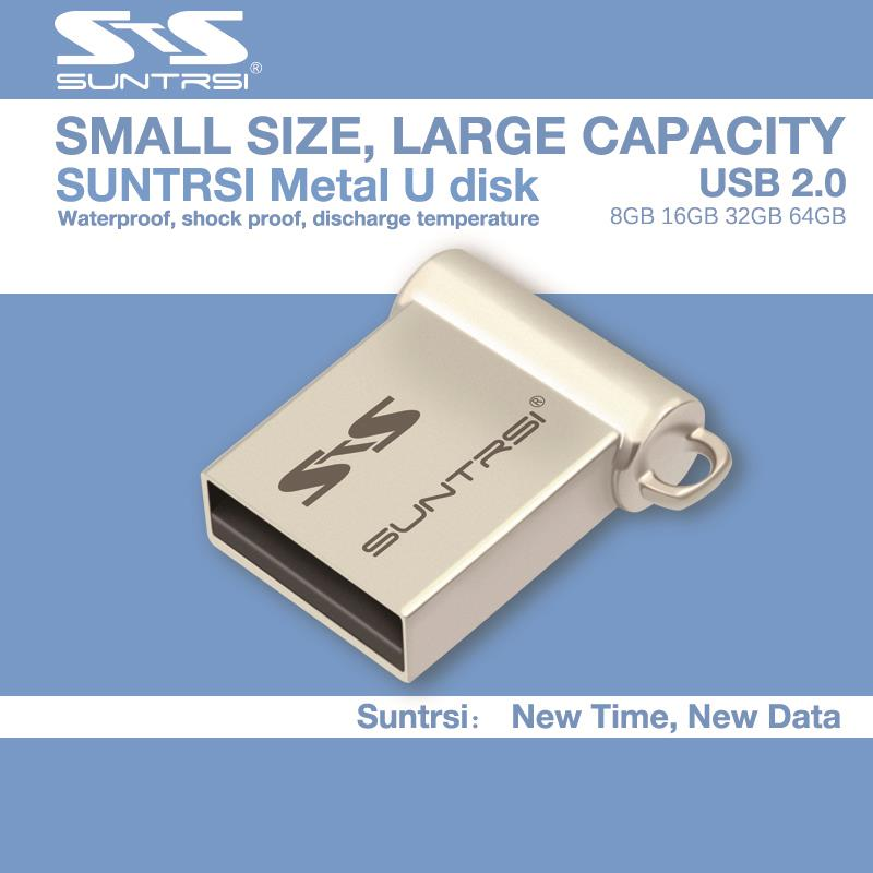 Suntrsi Usb Flash Drive Mini Pen drive 64GB 16GB 8GB USB 2.0 Flash Drive Pendrive New Usb Stick Custom USB Flash mini gift(China (Mainland))