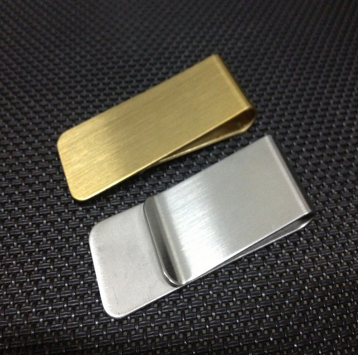 Fashion Simple Metal Money Clip 2 Colors Man Clamp Holder For Money Wallet #qb026(China (Mainland))