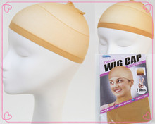 Stockings Wholesale Factory Price Beige Deluxe Wig Cap/Beige Black Bonde Three Color Hairnets Available 4pcs/packageFreeShipping(China (Mainland))