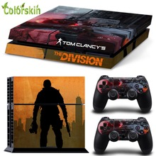 Colorskin PVC vinyl skin cover for playstation 4 Tom clancy's the division custom sticker for ps4 console and controllers