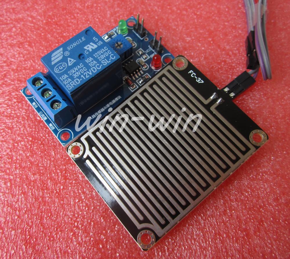 Гаджет  1pcs 12v Raindrops Controller Module Rain sensor module Foliar moisture  None Электронные компоненты и материалы