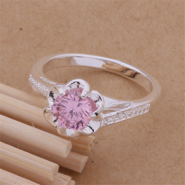 AR095 Wholesale hot silver plated rings,free shipping silver fashion jewelry, nice light red stone /bgkajxra(China (Mainland))