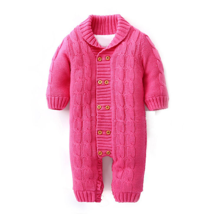 100 cotton 2016 new sweater jumpsuit baby rompers autumn